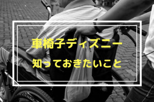 車椅子ディズニー